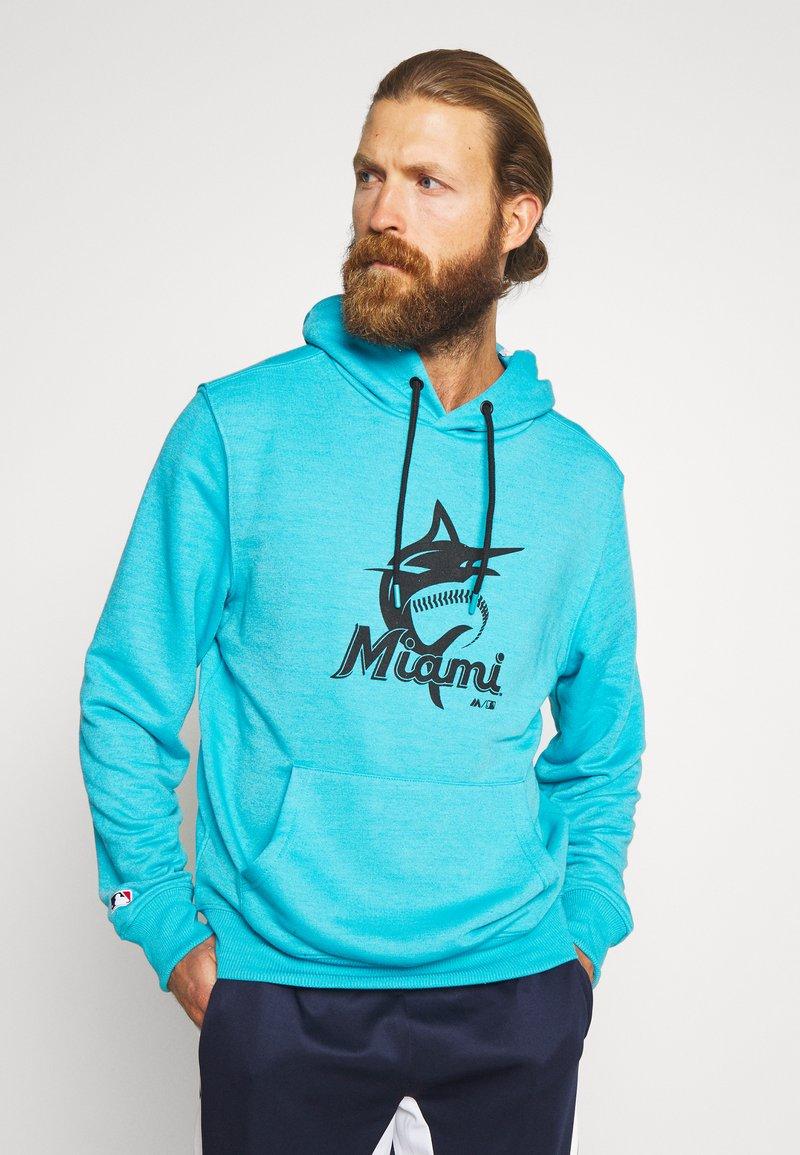 Fanatics - MLB MIAMI MARLINS HOODIE - Klubové oblečení - blue