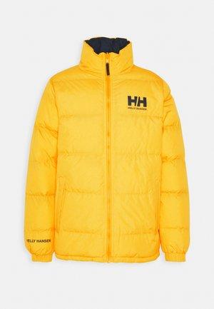 REVERSIBLE PUFFER JACKET - Zimní bunda - young yellow