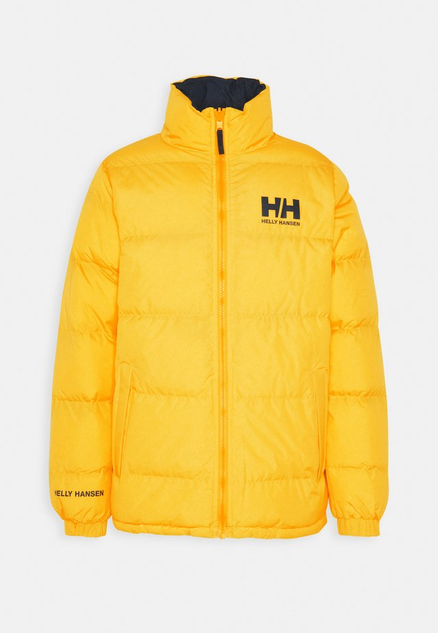 REVERSIBLE PUFFER JACKET - Chaqueta de invierno - young yellow