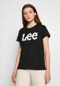 Lee - LOGO TEE - T-shirts med print - black - 0