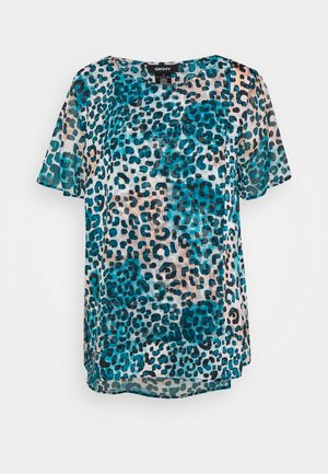 T-shirts print - ivory gemstone/black/multi