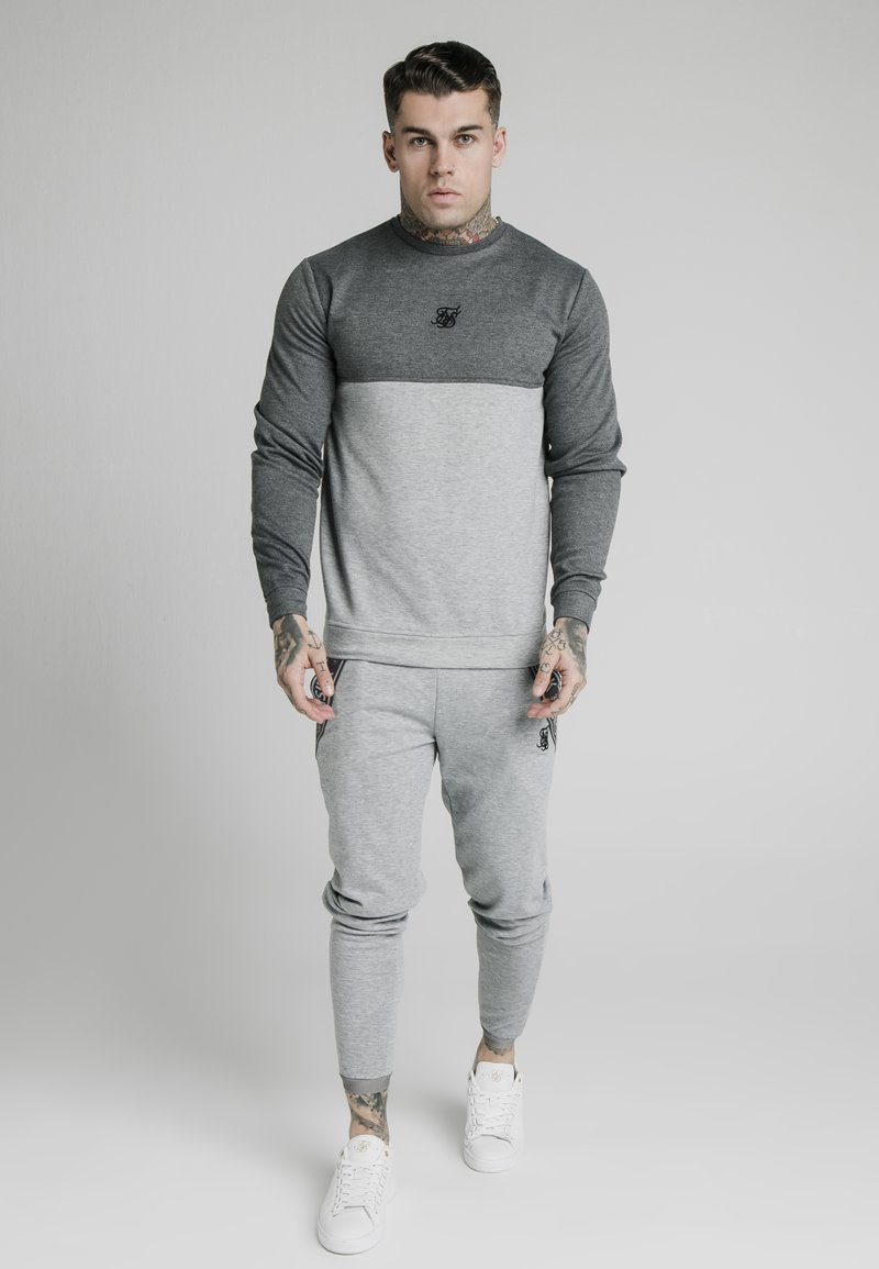 SIKSILK - ARC TECH FADE CREW - Sweater - grey marl