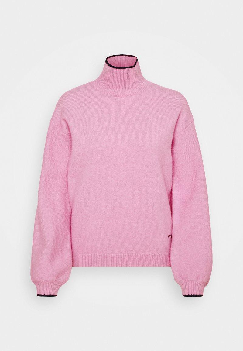 Victoria Victoria Beckham - OVERSIZED MOCK NECK JUMPER - Strikpullover /Striktrøjer - lilac pink