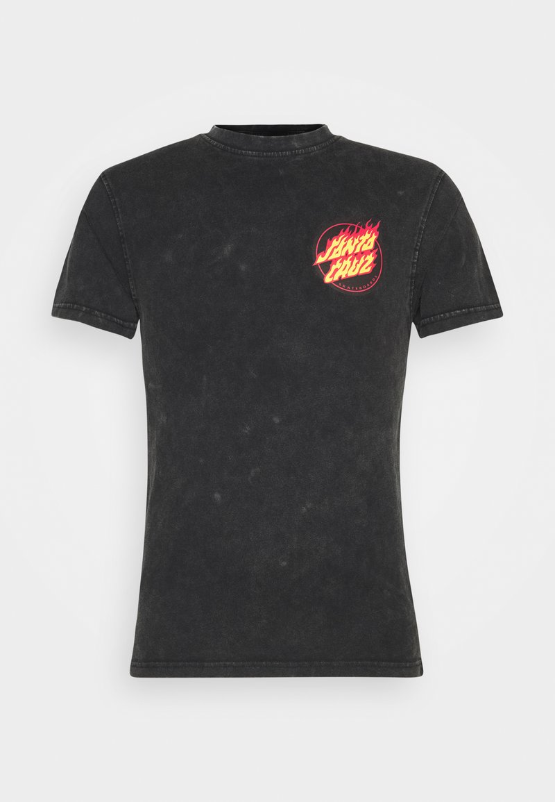 Santa Cruz - EXCLUSIVE FLAMING JAPANESE DOT UNISEX - Print T-shirt - black