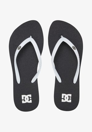 SPRAY - T-bar sandals - black/white