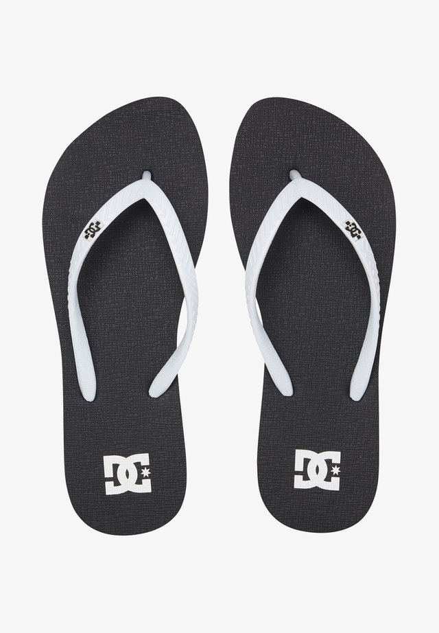 SPRAY - T-bar sandals - black/white