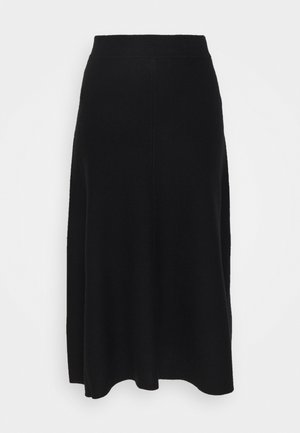 VMFRESNO CALF SKIRT - A-Linien-Rock - black