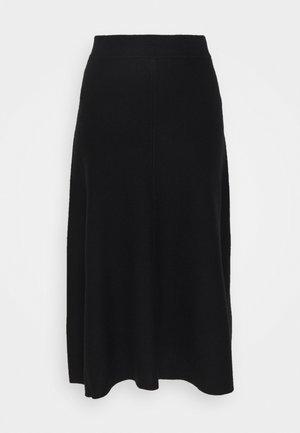 VMFRESNO CALF SKIRT - Áčková sukně - black
