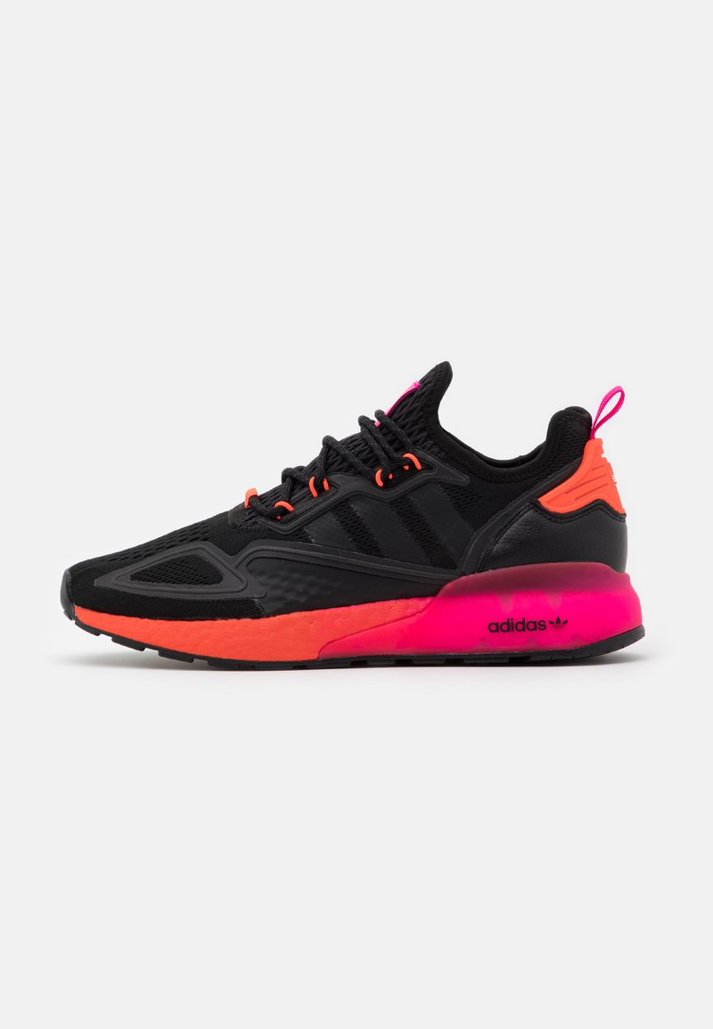 adidas Originals - ZX 2K BOOST UNISEX - Trainers - core black/solar red