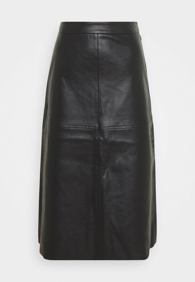 PCSURIANNA MIDI SKIRT TALL - Pencil skirt - black