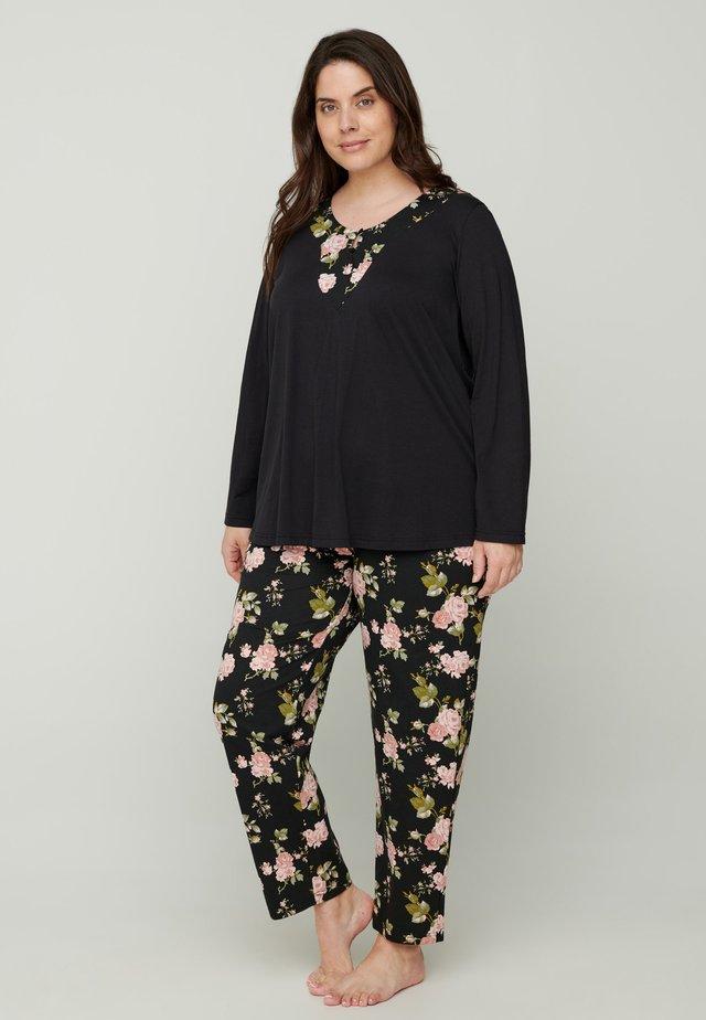 Pantaloni del pigiama - black comb