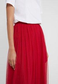 Needle & Thread - DOTTED SKIRT - A-line skirt - deep red - 4