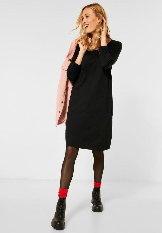 SPORTIVES JERSEYKLEID - Jersey dress - schwarz