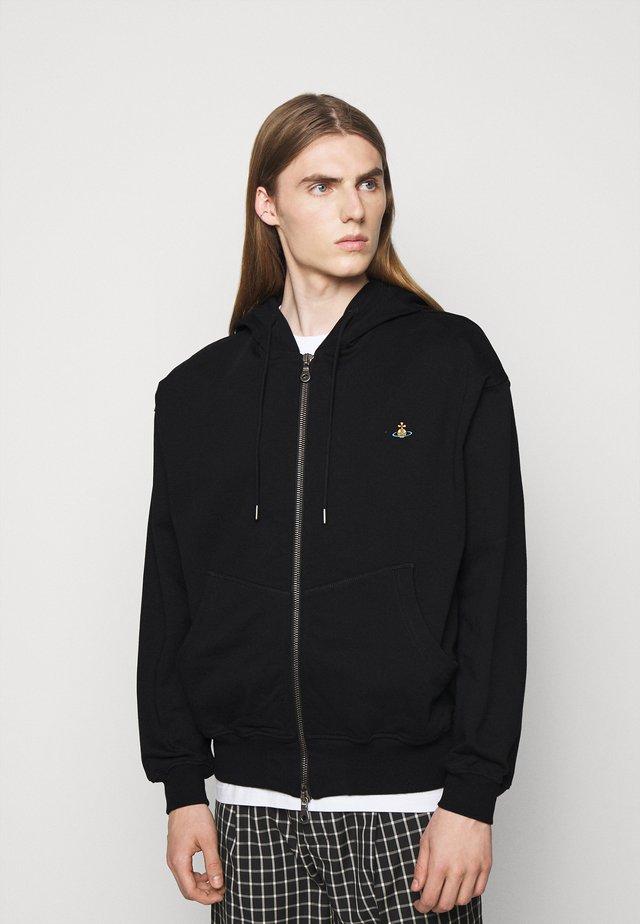 RUGGED ZIP HOODIE - veste en sweat zippée - black