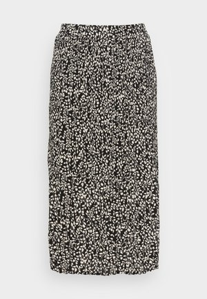 SIELLA CLOVER SKIRT - Pencil skirt - black leaf