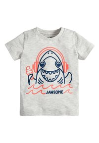 Next - 3 PACK SHARK T-SHIRTS - Print T-shirt - grey - 4