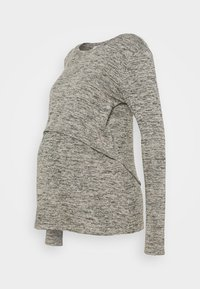 Cotton On - MATERNITY 2 IN 1 TOP - Long sleeved top - latte twist - 0