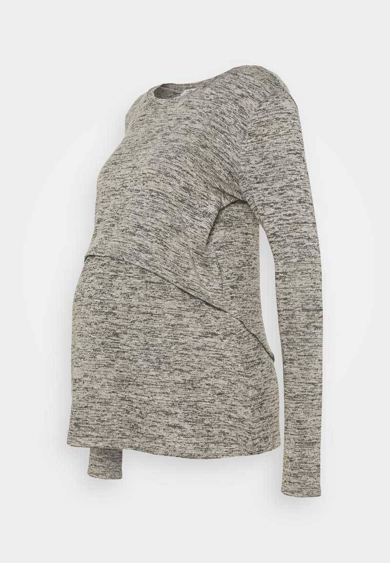 Cotton On - MATERNITY 2 IN 1 TOP - Long sleeved top - latte twist