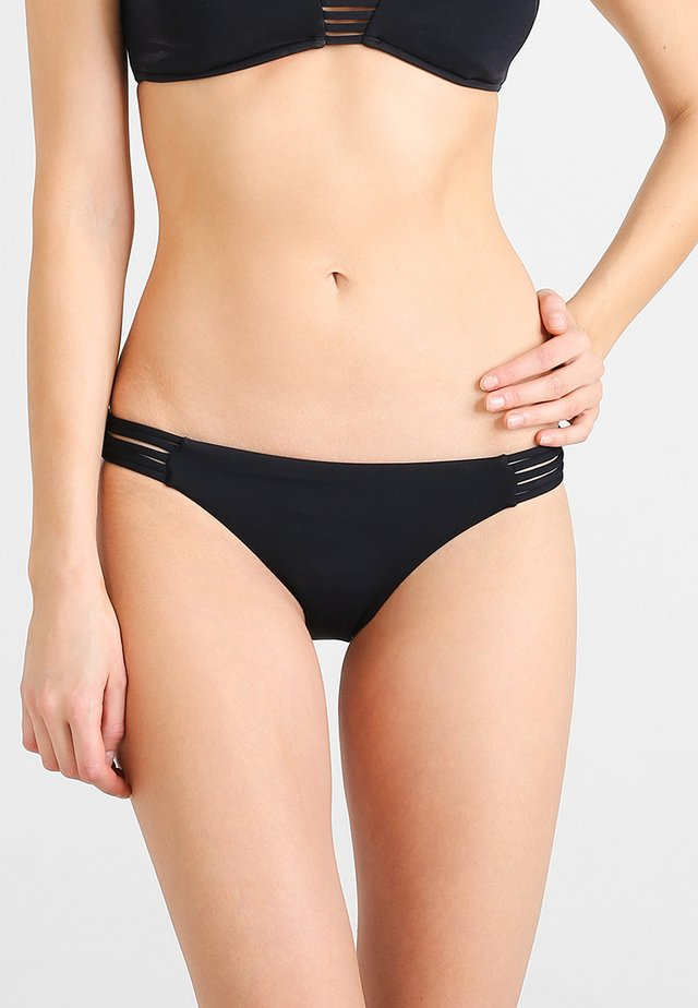 MULTI ROULEAU BRAZILIAN - Bikini bottoms - black