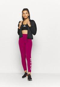 adidas Performance - LIN - Leggings - berry - 1