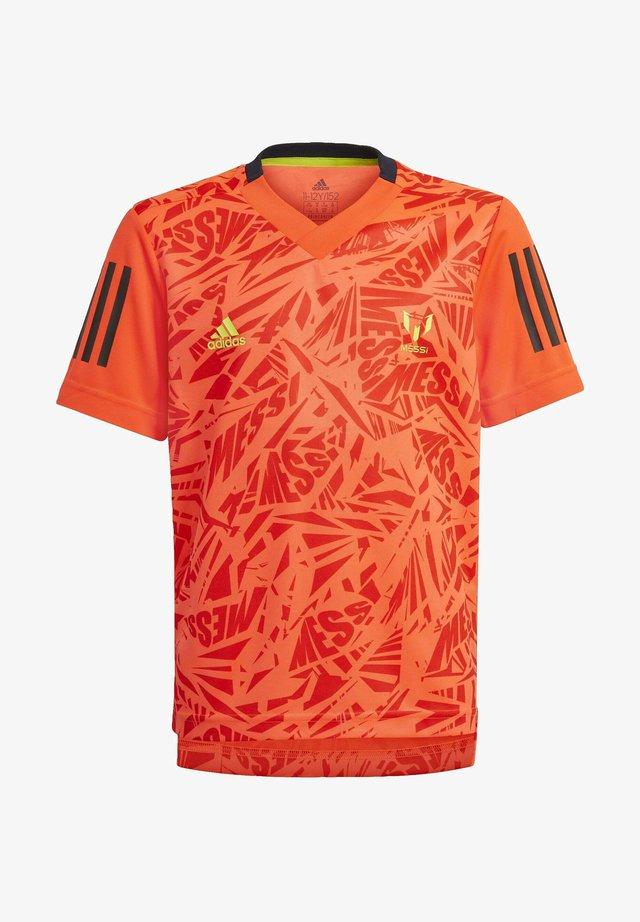 B A.R. M IC JSY - Print T-shirt - orange