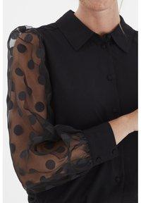 Fransa - FRNABURN - Button-down blouse - black - 4