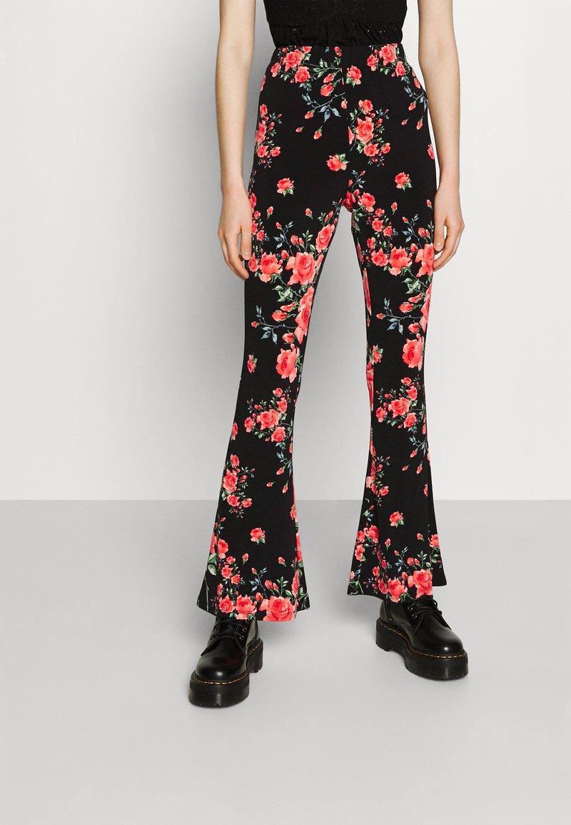 Vila - VICOSMO FESTIVAL PANTS - Trousers - black