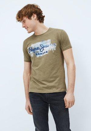 GOLDERS - Print T-shirt - khaki