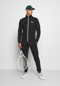 Lacoste Sport - TRACKSUIT - Trainingspak - black/green/white - 1