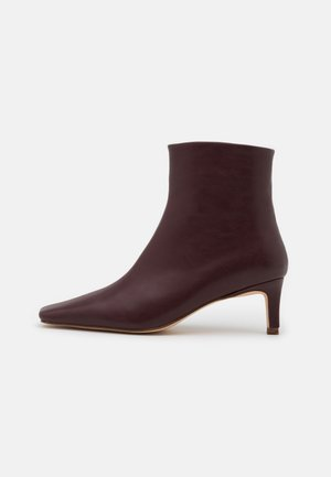 SQUARED LONG TOE BOOTS - Classic ankle boots - burgundy