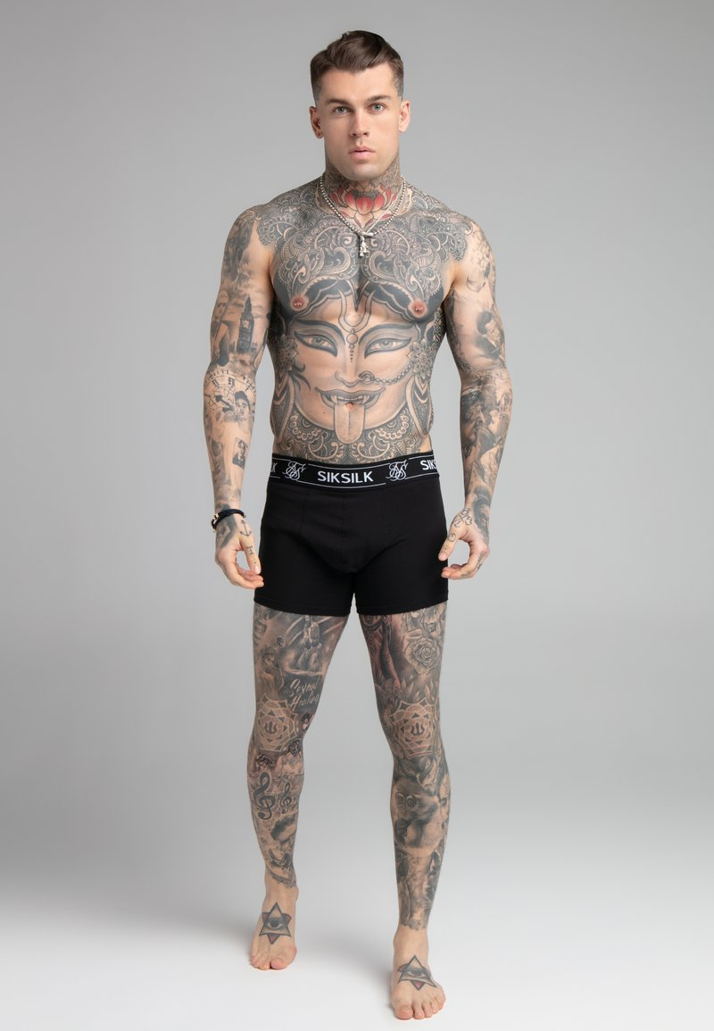 SIKSILK - 3 PACK - Pants - black