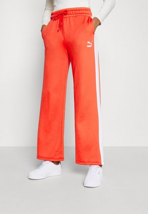ICONIC - Tracksuit bottoms - poppy red