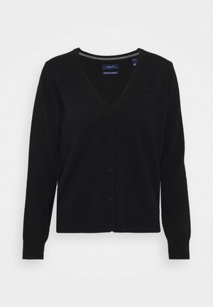 SUPERFINE CARDIGAN - Vest - black