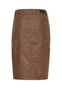 Fransa - FRNOTALIN - A-line skirt - dark camel - 7