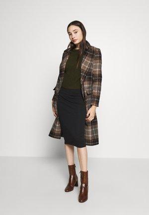 NMANJA SKIRT 2 PACK  - Pencil skirt - medium grey melange/black