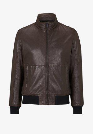 Leather jacket - schokoladenbraun
