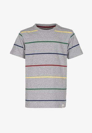 Print T-shirt - grey-mel