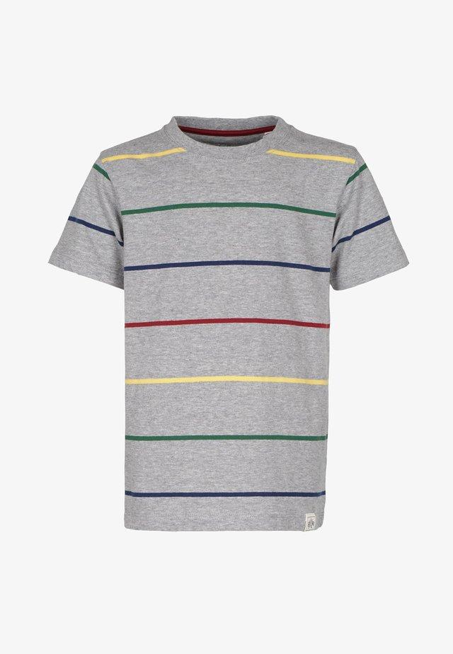 T-shirt med print - grey-mel