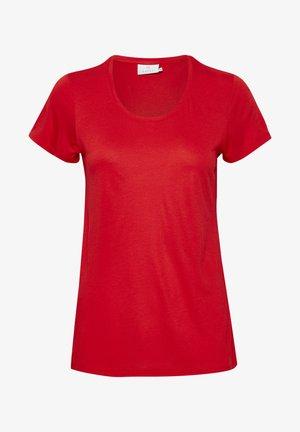 ANNA - Basic T-shirt - high risk red