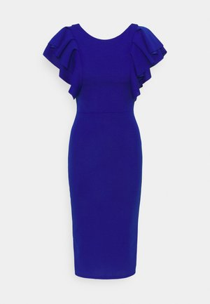 KENSLEY RUFFLE SLEEVE DRESS - Day dress - electric blue