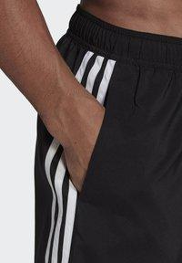 adidas Performance - 3 STRIPES CLASSICS PRIMEGREEN SWIM SHORTS - Shorts da mare - black/white - 4