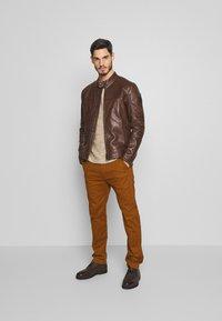 Strellson - BRIXTON - Leather jacket - cognac - 1