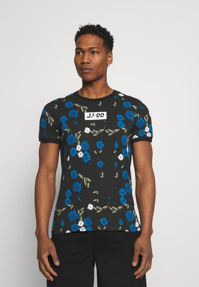 JCORAYNOR TEE CREW NECK - Print T-shirt - black