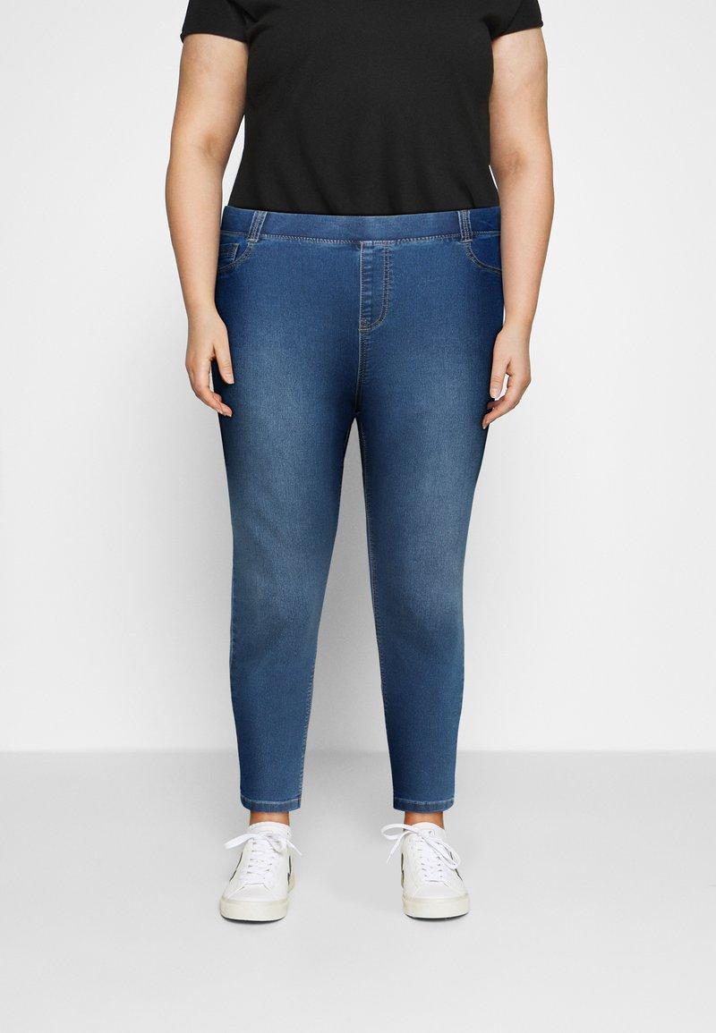 CAPSULE by Simply Be - AMBER - Skinny džíny - mid blue