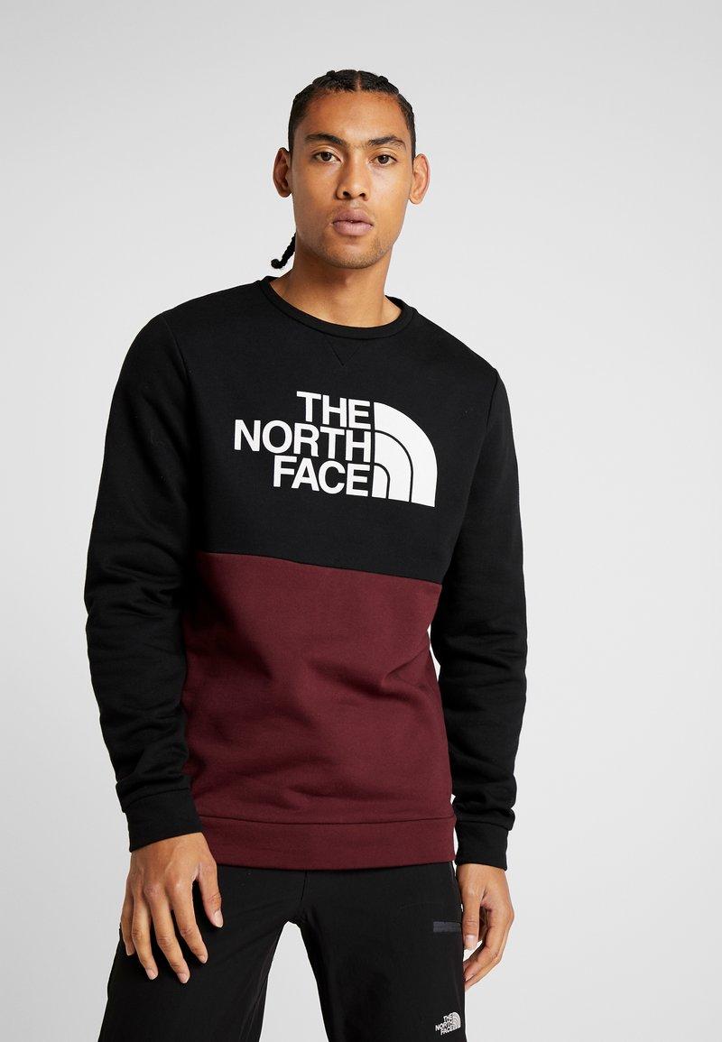 The North Face - CANYONWALL CREW - Sweatshirt - black/deep garnet red