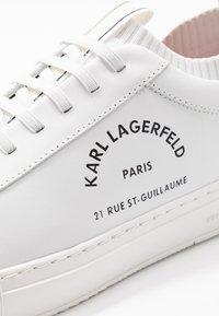 KARL LAGERFELD - KUPSOLE MAISON LACE SHOE - Mocasines - white - 5