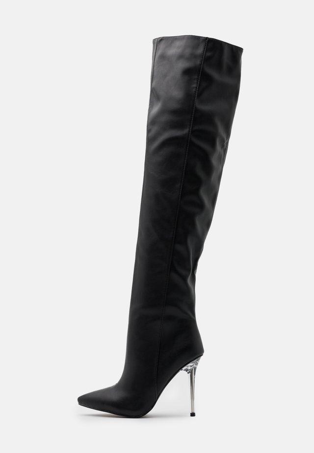 DUKE - High heeled boots - black