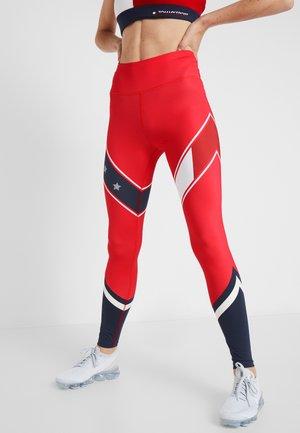 LEGGING WITH STARS  - Leggings - red