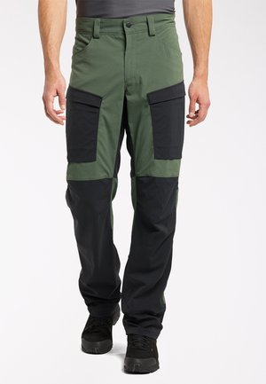 Outdoor trousers - fjell green/true black