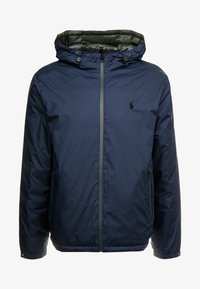 Polo Ralph Lauren - REVERSIBLE FILLED HOODIE - Veste légère - dark blue/anthrazit - 6